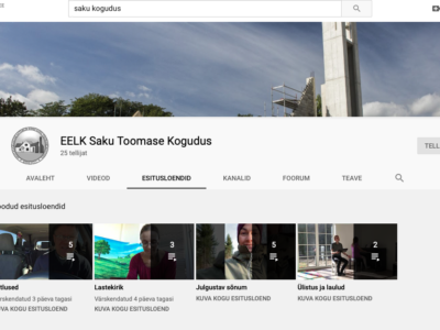 Koguduse Youtube kanal